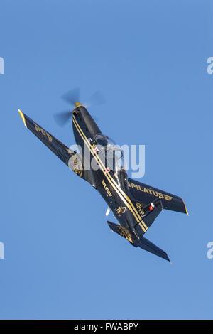 Pilatus PC-9M military training aircraft HB-HPJ - Stock Photo