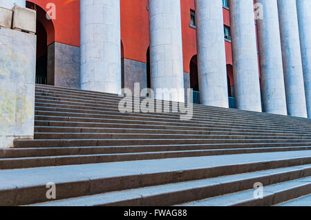 The Post Office building. Fascist Architecture. Palermo, Sicily, Italy. - Stock Photo