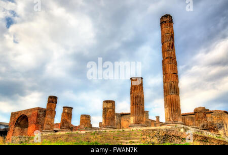Temple of Jupiter in Pompeii - Italy - Stock Photo