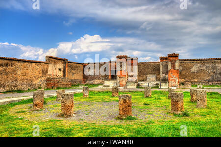 Macellum, an ancient market in Pompeii - Stock Photo
