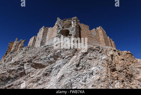 Palmyra, Syria. 2nd Apr, 2016. Fakhr al-Din al-Maani Citadel on the outskirts of Palmyra. Palmyra was recaptured - Stock Photo