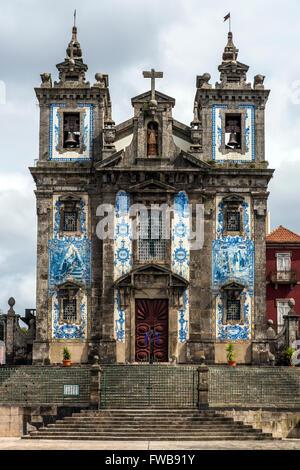 Church of Saint Ildefonso or Igreja de Santo Ildefonso, Porto, Portugal - Stock Photo