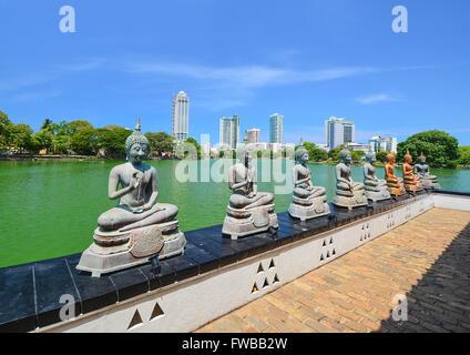 The Statues Of Seema Malakaya At The Gangarama Temple In Beira Lake, Seema Malakaya Is The One Of Beautiful Religious - Stock Photo