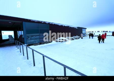 The visitors centre, Pingvellir National Park, UNESCO World Heritage Site, South western Iceland, Europe. - Stock Photo