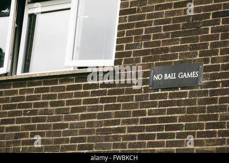 No Ball Games; Northern Ireland. - Stock Photo