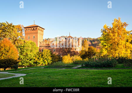Turin (Torino Parco del Valentino and Borgo Medievale) - Stock Photo