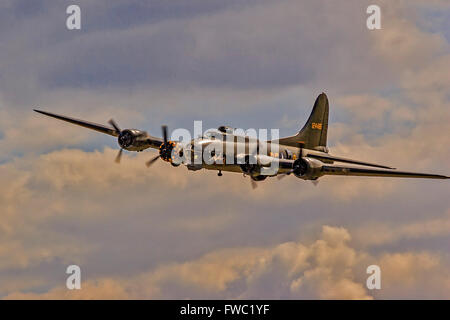 Aircraft Boeing B-17 Flying Fortress Duxford UK - Stock Photo