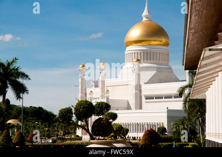 Sultan Omar Ali Saifuddin Mosque - Bandar Seri Begawan - Brunei - Stock Photo
