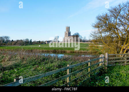 The Church of St Mary and All Saints, Fotheringhay is a parish church in the Church of England in Fotheringhay, - Stock Photo