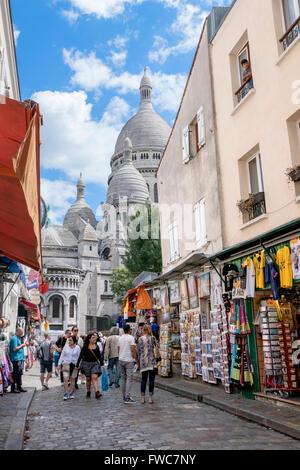 The Sacré Coeur at Montmartre, Paris, France. - Stock Photo