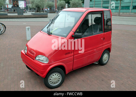 Small Red Disabled Car Amsterdam Holland Netherlands Europe Stock