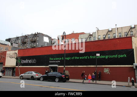 New York, USA. 19th Mar, 2016. The building where the 'Lowline Lab' is located in New York, USA, 19 March 2016. - Stock Photo
