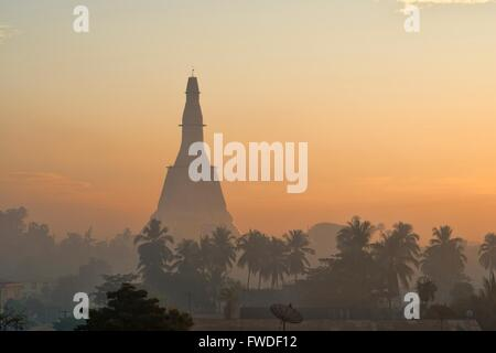 Sunrise in Bago, Myanmar - Stock Photo