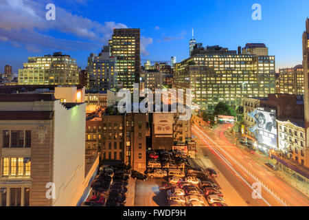 NEW YORK CITY, SEP 16: A busy parking lot on SEP 15, 2014 at New York City. - Stock Photo