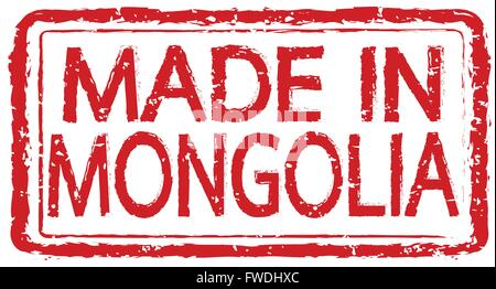 Made in  MONGOLIA stamp text Illustration - Stock Photo