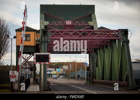 West Float Merseyside Liverpool docks birkenhead   Duke Street bridge When originally built, all four were hydraulic - Stock Photo