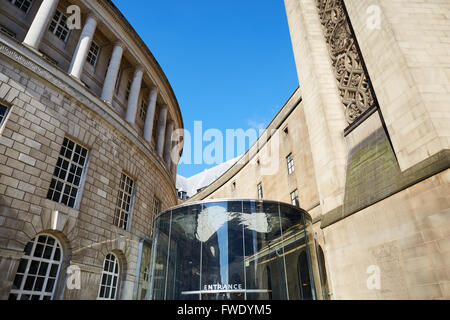 Manchester open space Town Hall extension  in the St Peters Square area pavement paved pedestrian pedestrianised - Stock Photo