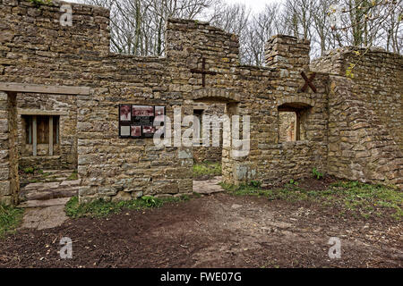Abandoned Derelict Office Buildings In An Urban Area In