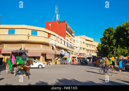 Place an-Nasr, Place Talmoqlate, Medina, Taroudant, Souss valley, southern Morocco, northern Africa - Stock Photo