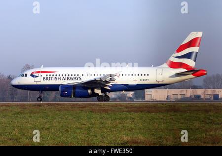 British Airways, Airbus A319-131 - Stock Photo