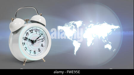 Classical alarm clock project world map stock photo 99545887 alamy classical alarm clock project world map stock photo gumiabroncs Images