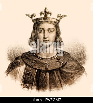Philip IV, Philippe IV le Bel, Philipp IV., 1268-1314, called the Fair or the Iron King, King of France - Stock Photo