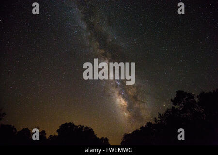 Milky Way as seen from the South Rim, Grand Canyon, Arizona, USA - Stock Photo