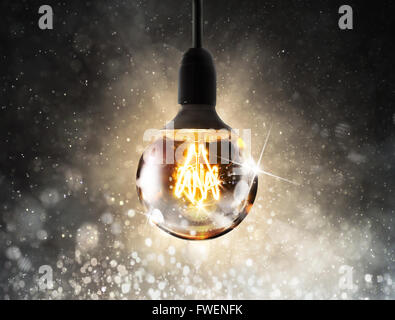 Shiny lightbulb - Stock Photo