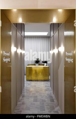 corridor to the personal shopping area showing concierge desk selfridges manchester manchester - Concierge Desk Design