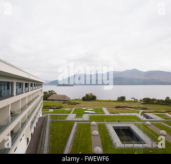 Terraced and landscaped spa and hotel park with lake leane - Lake hotel killarney swimming pool ...