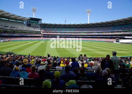 Melbourne Cricket Ground Test Match, Melbourne, Victoria, Australia, Oceania - Stock Photo