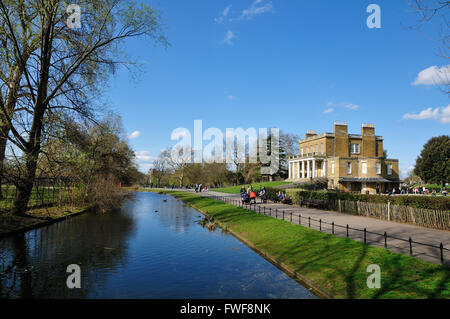 Clissold House in Clissold Park, Stoke Newington, Hackney, London UK - Stock Photo