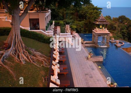 Pool, luxury hotel Pimalai Resort, Kantiang Beach, Ko Lanta or Koh Lanta island, Krabi, Thailand, Asia. Pimalai - Stock Photo