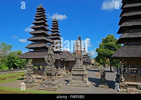 Pagoden und Gebetsplaetze, Pura-Taman-Ayun-Tempel, Balis zweitwichtigster Tempel, nationales Heiligtum, Bali, Indonesien - Stock Photo