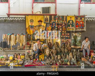 Panjuayuan Art Market. Beijing. China - Stock Photo