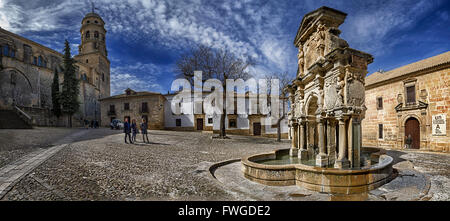 Santa Maria cathedral, roman cathedral of Baeza, Province Jaen, Andalucia, Spain - Stock Photo
