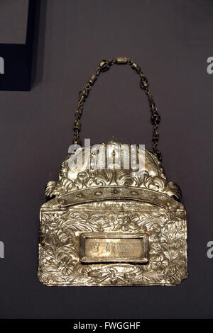 A Torah shield on display in the Jewish Historical Museum, Amsterdam, Netherlands. - Stock Photo
