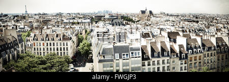 Elevated View Of City - Stock Photo