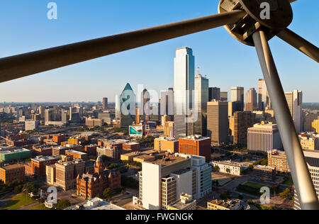 Skyline from Reunion Tower, Dallas, Texas, United States of America, North America - Stock Photo