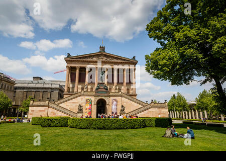 Alte Nationalgalerie (Old National Gallery) at the Museumsinsel (Museum Island), Mitte, Berlin, Germany, Europe - Stock Photo