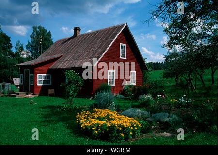 House in Haanjamaa Naturpark, Estonia, Europe - Stock Photo