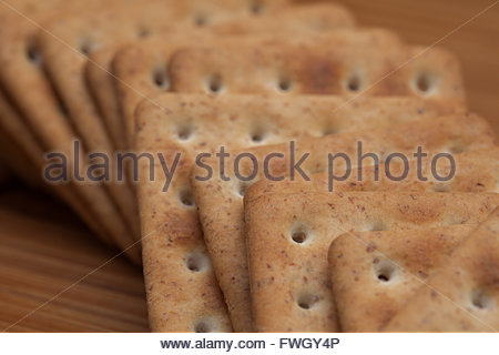 dry biscuits on the table - Stock Photo