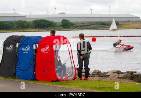 Crosby, Liverpool, Merseyside, 12 Jun 2016.  The JSRA British Jet Sport Championships take place on Crosby Park - Stock Photo