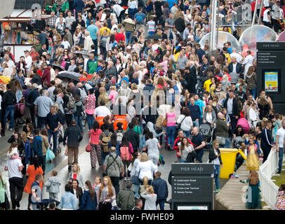 UK Weather. Liverpool UK. 12 June  2016.Wet afternoon in Liverpool as hundreds of people turn out to sample the - Stock Photo