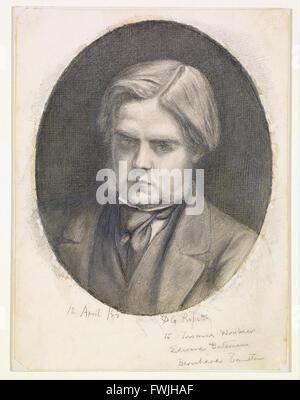 Dante Gabriel Rossetti - Portrait of William Holman Hunt (1827-1910) - Stock Photo