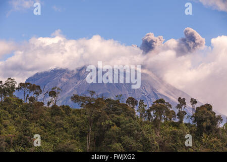 Tungurahua Is An Active Strato Volcano, Located On The Eastern Edge Of The Andes Of Ecuador, South America