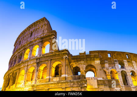 The Close up view of Colosseum in Rome, Italy. - Stock Photo