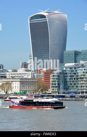 20 Fenchurch Street skyscraper also known as the Walkie Talkie building in the City of London England UK &sightseeing - Stock Photo