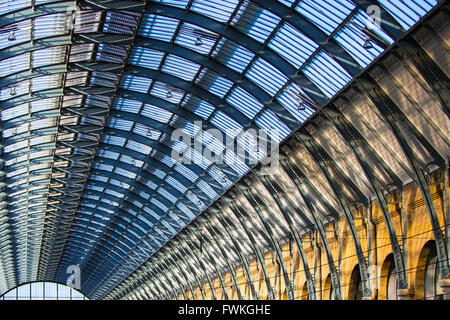 Kings Cross Station London - Stock Photo