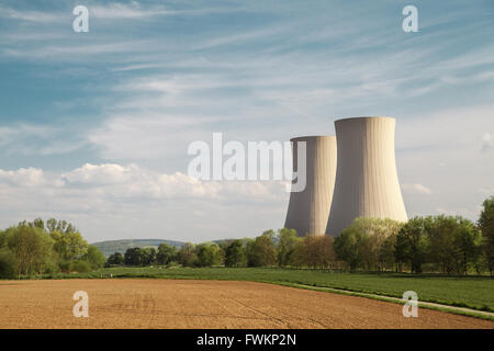 Nuclear power station Grohnde - Stock Photo